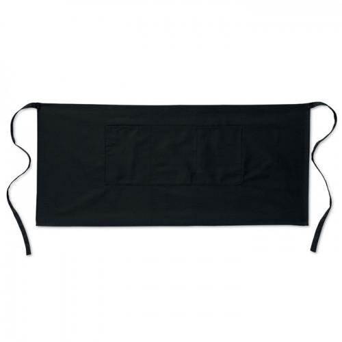 Waiter's apron short 195 gr/m2 in black