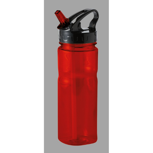 500 ml PCTG bottle in transparent-red