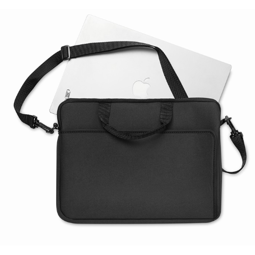 Neoprene laptop pouch in black