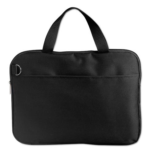 600D Polyester Document Bag in black