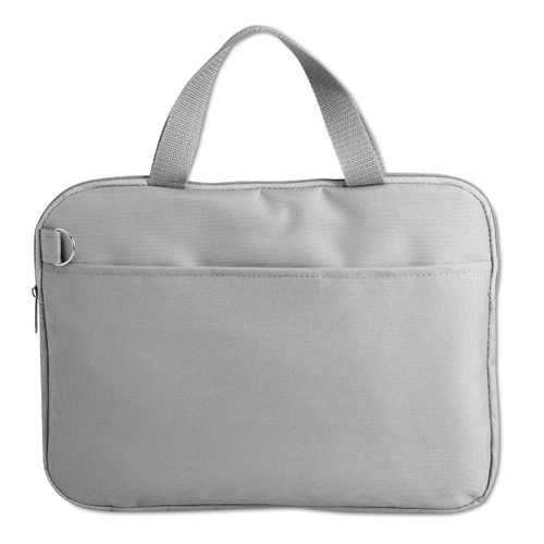 600D Polyester Document Bag in grey