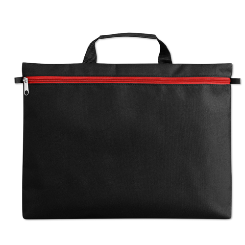 600D polyester document bag in red