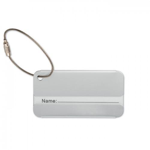 Aluminium luggage tag           in
