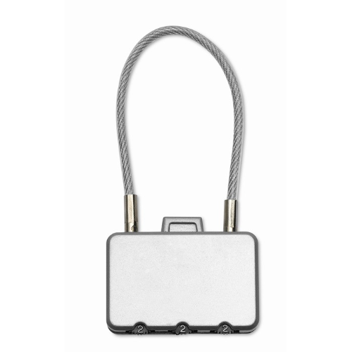 Security lock in matt-silver
