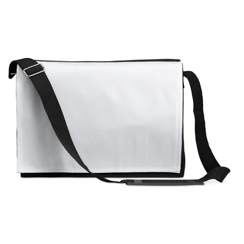 Document shoulder bag in black
