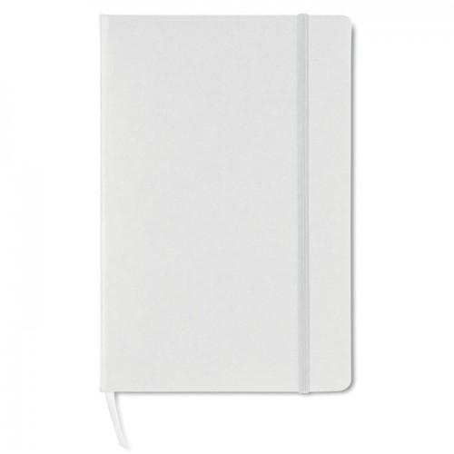 A5 block note w/ squared paper in white