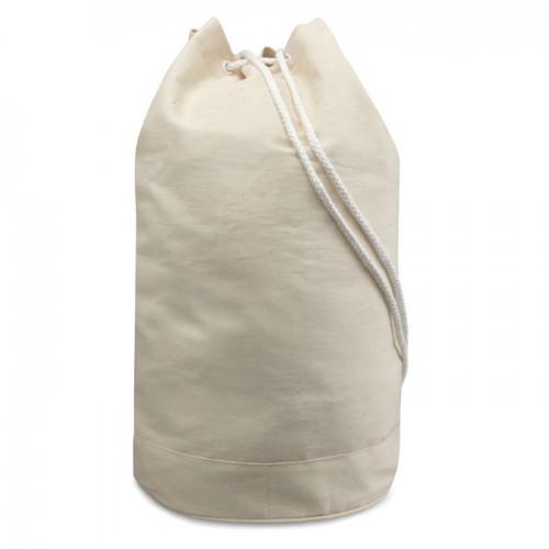 Cotton duffle bag               in beige