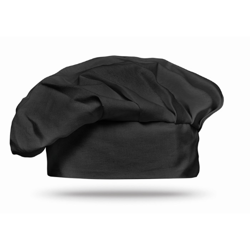 Cotton chef hat 130 gsm         in black