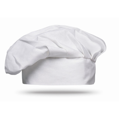 Cotton chef hat 130 gsm         in white