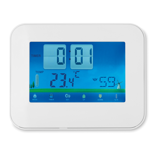 Weather Station Touch Screen in white