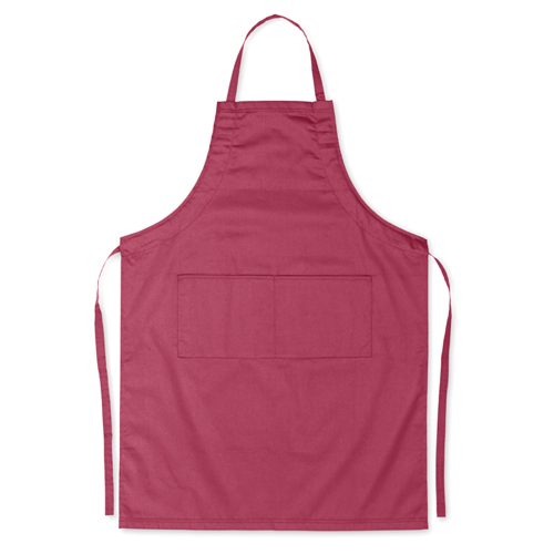 Adjustable apron                in burgundy