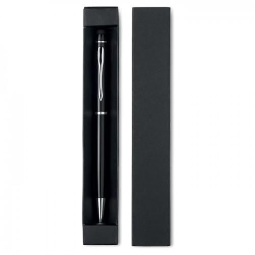 Stylus pen in paper box in white