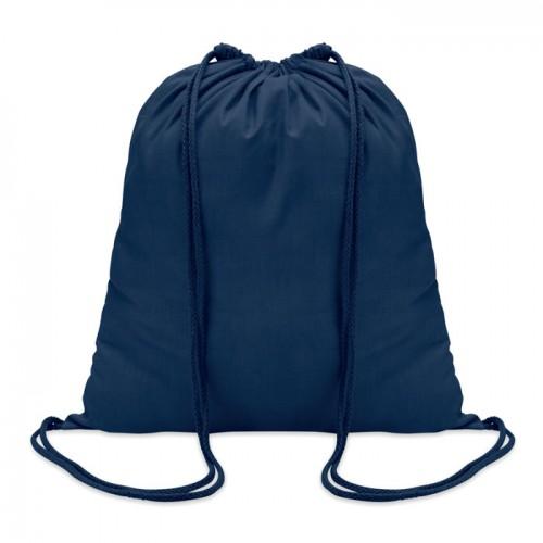 Cotton 100 gsm drawstring bag in blue