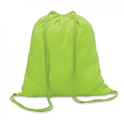 Cotton 100 gsm drawstring bag in lime