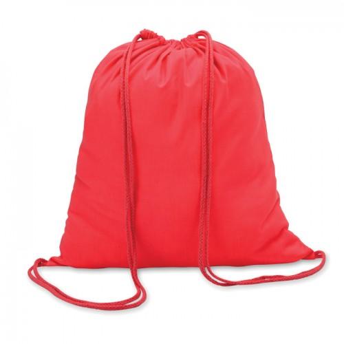 Cotton 100 gsm drawstring bag in red