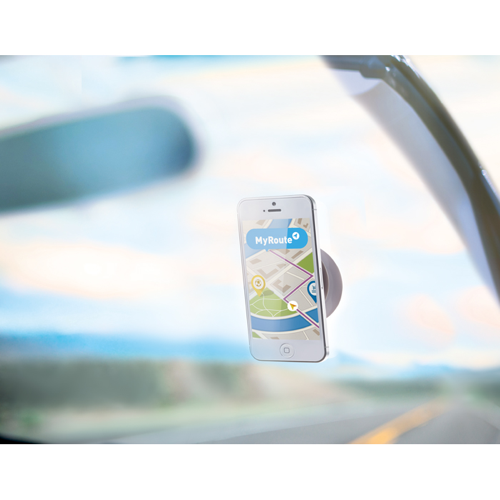 Suction Cup Phone Holder in white