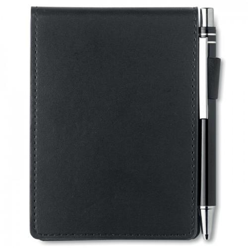 A7 notebook in PU pouch in black