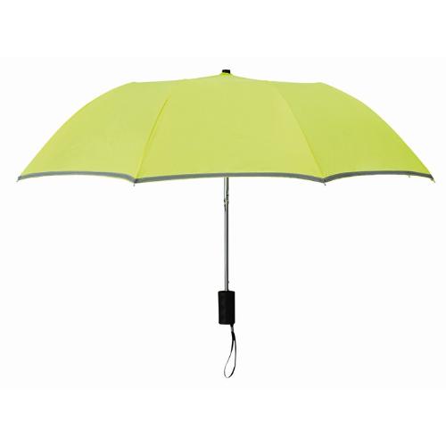 21 inch 2 fold umbrella in neon-green