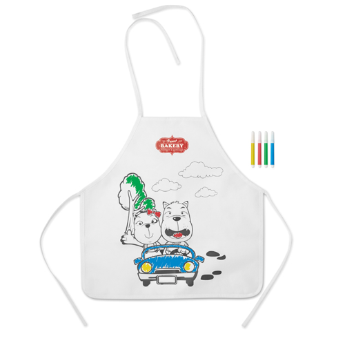 Non Woven Apron With 4 Markers in