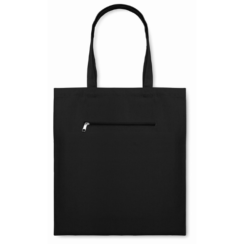 Shopping Bag In Canvas in black