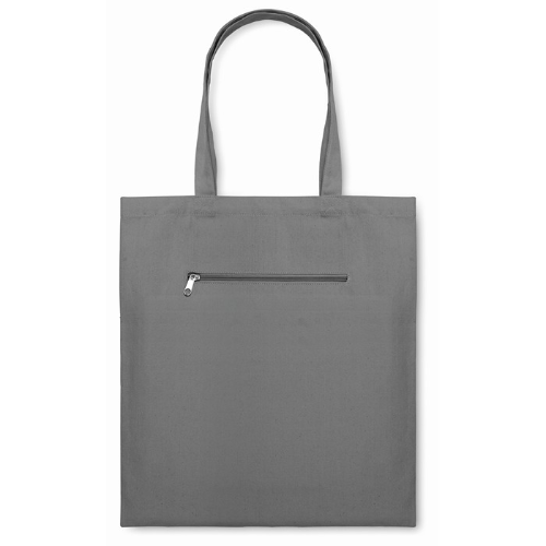 Shopping Bag In Canvas in grey