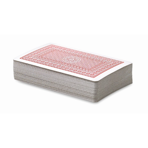 Playing cards in pp case in red