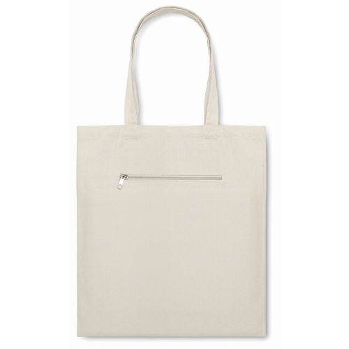 Shopping Bag In Canvas in beige