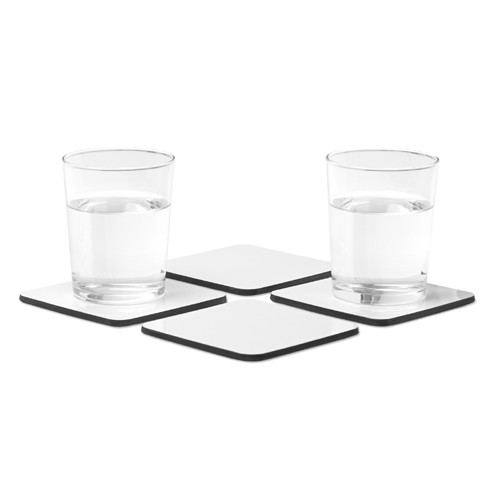 Set Of 4 Coasters in white