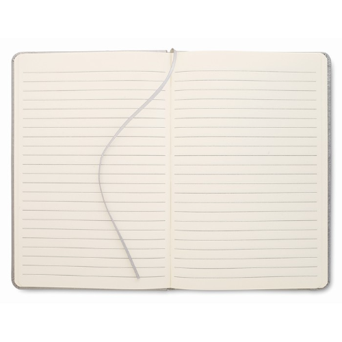A5 notebook lined paper in titanium