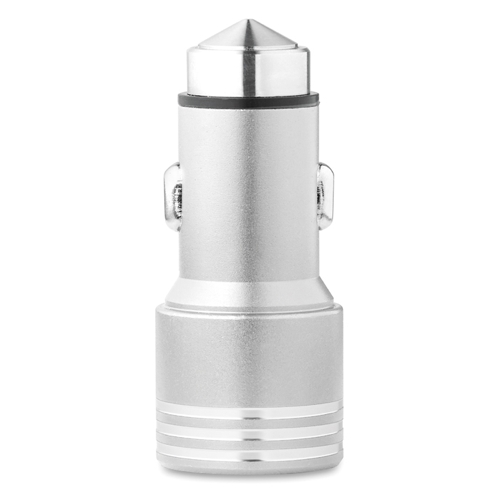 Car Charger With Hammer in silver