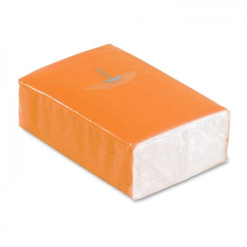 Mini tissues in packet          in orange