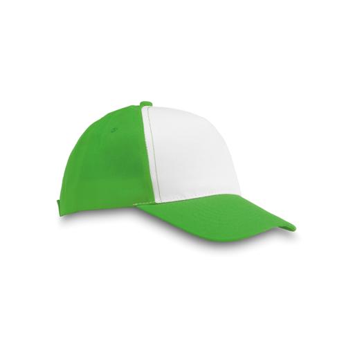 Polyester 5 Panel Baseball Cap in green