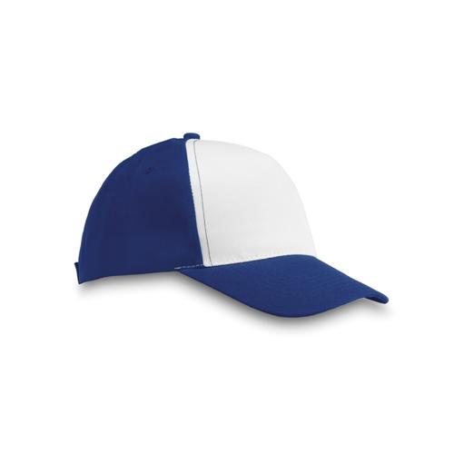 Polyester 5 Panel Baseball Cap in royal-blue