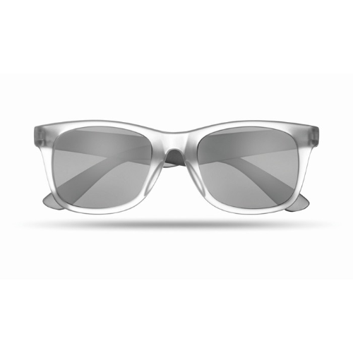 Sunglasses with mirrored lense in black