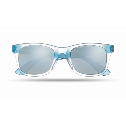 Sunglasses with mirrored lense in blue
