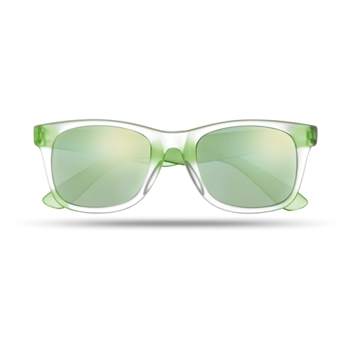 Sunglasses with mirrored lense in green
