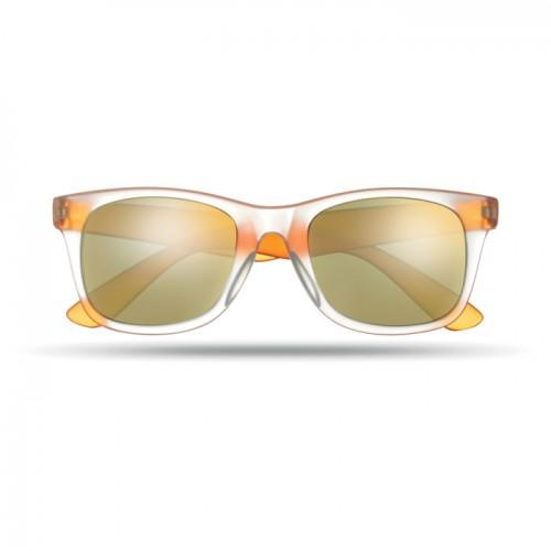 Sunglasses with mirrored lense in orange