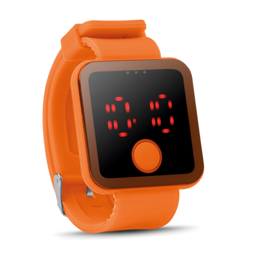 Red Led Watch in orange