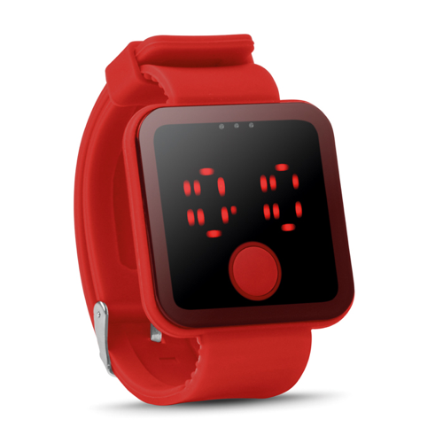 Red Led Watch in red