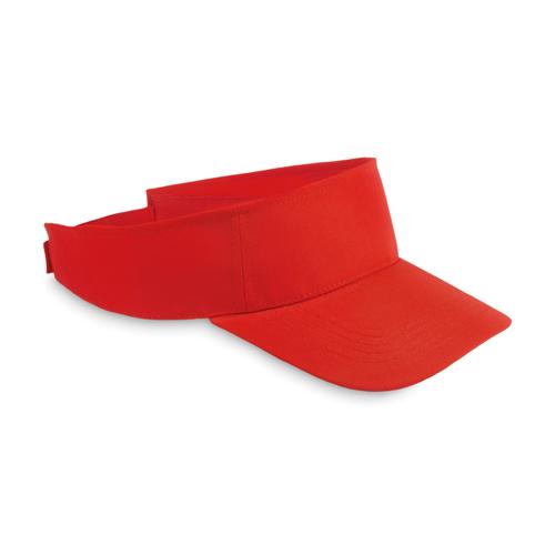 Sun visor in polyester in red