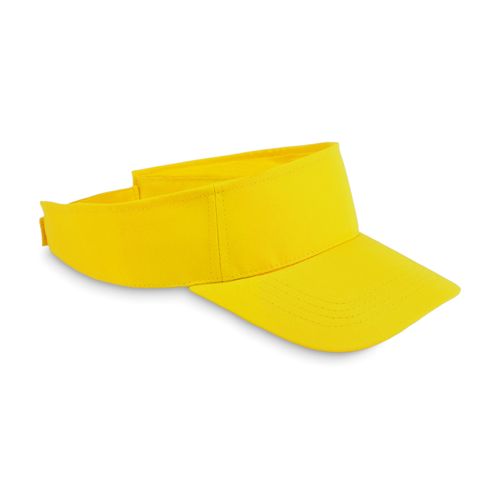 Sun visor in polyester in yellow