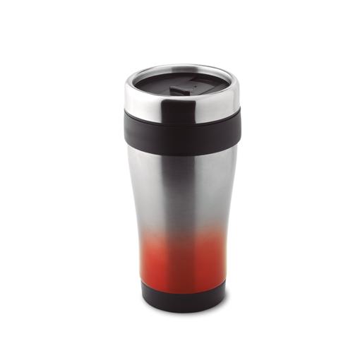 455 Ml Double Wall Mug in red