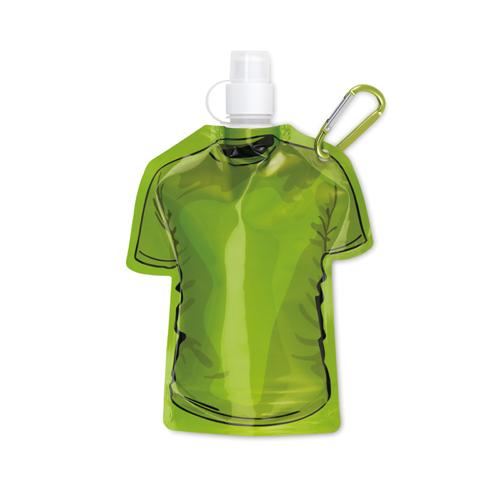 T-shirt foldable bottle in green