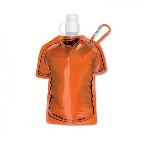 T-shirt foldable bottle in orange