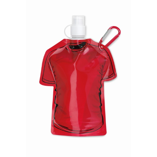 T-shirt foldable bottle in red