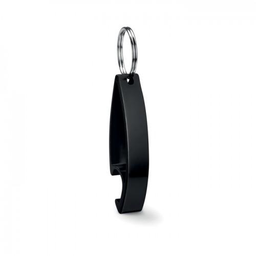 Keyring bottle opener           in black