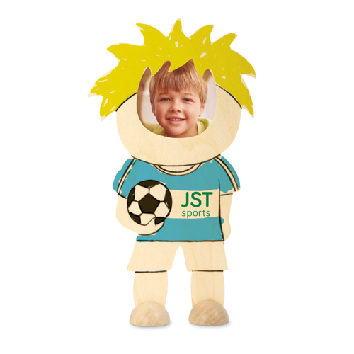 Footballer Photo Frame With 6 in beige