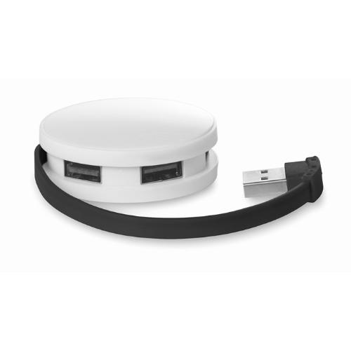 4 port USB hub in black