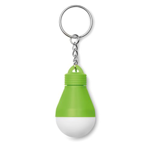Light Bulb Key Ring in lime