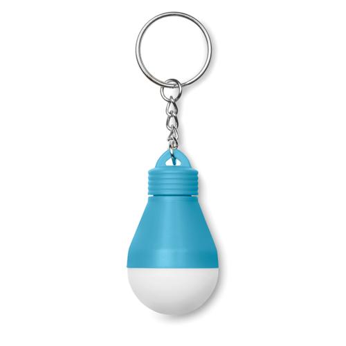 Light Bulb Key Ring in turquoise